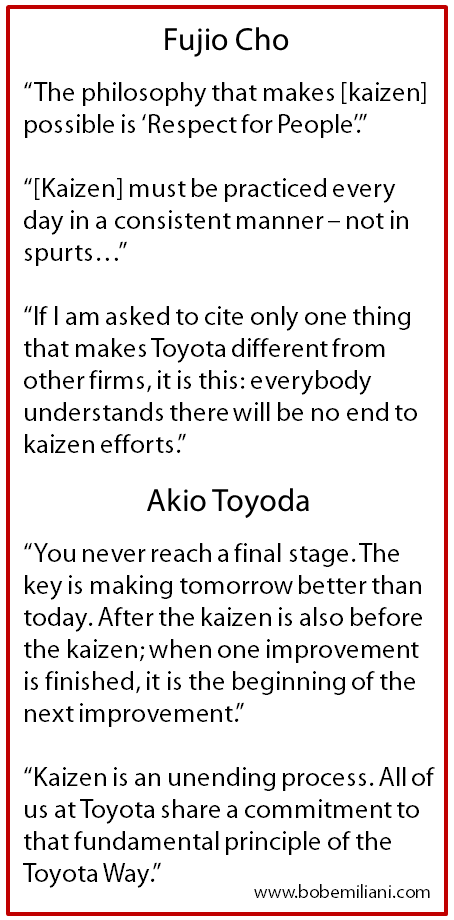 Origin Of The Phrase Kaizen Event