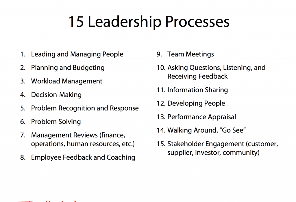 The 15 Leadership Processes
