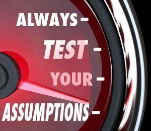 test assumptions