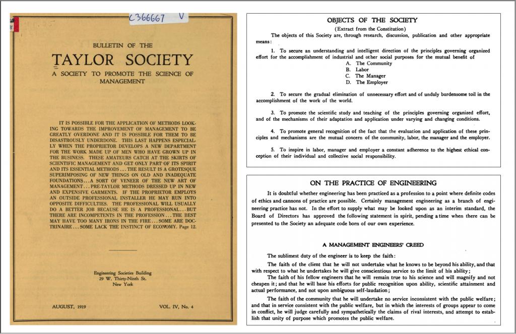 Taylor Society 1
