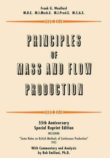 Principles Of Mass And Flow Production by Bob Emiliani